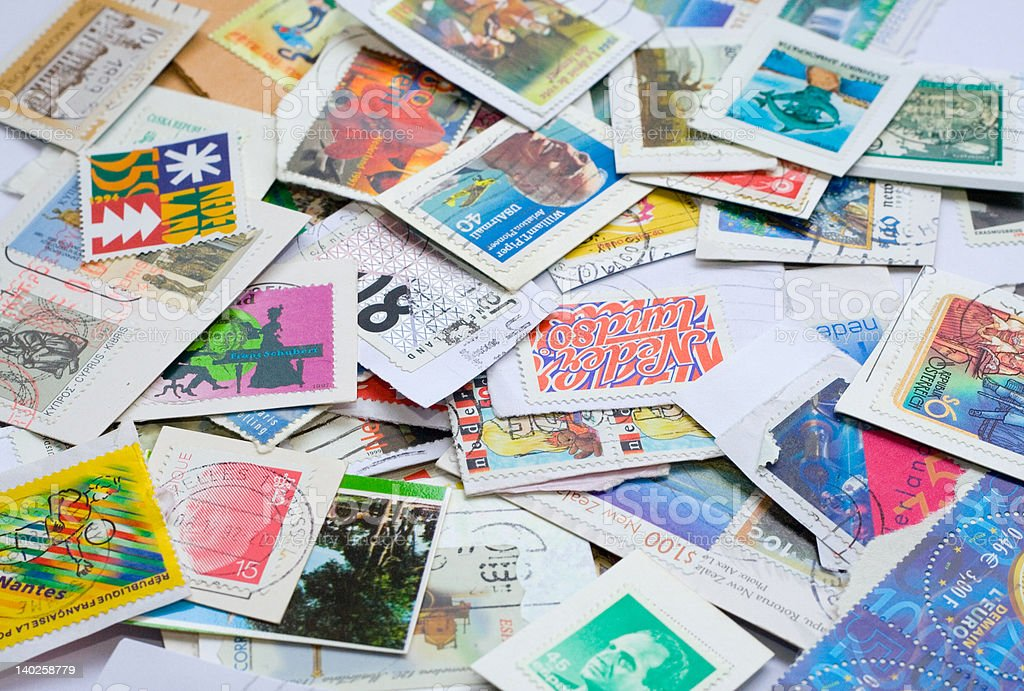 Post stamps to be collected 1 royalty-free stock photo