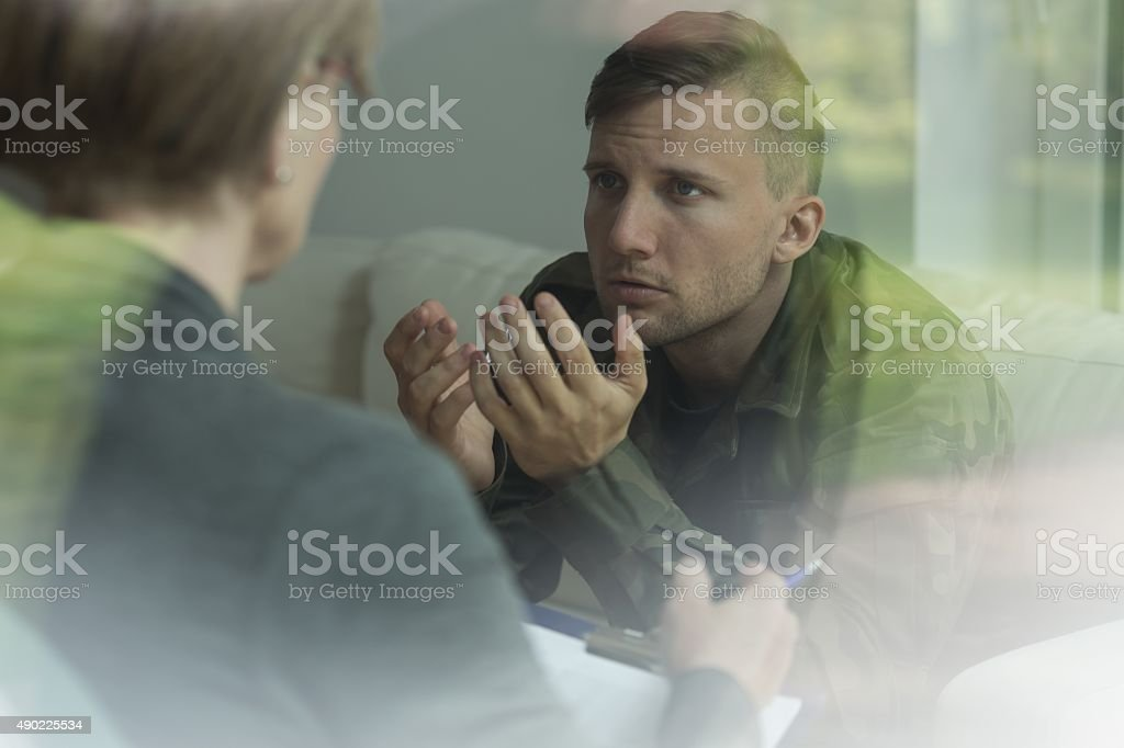 Post traumatic stress disorder stock photo