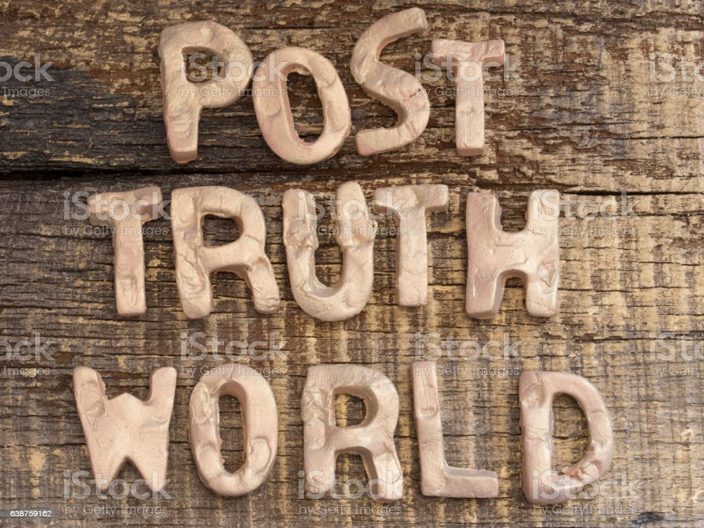 Post Truth concept stock photo