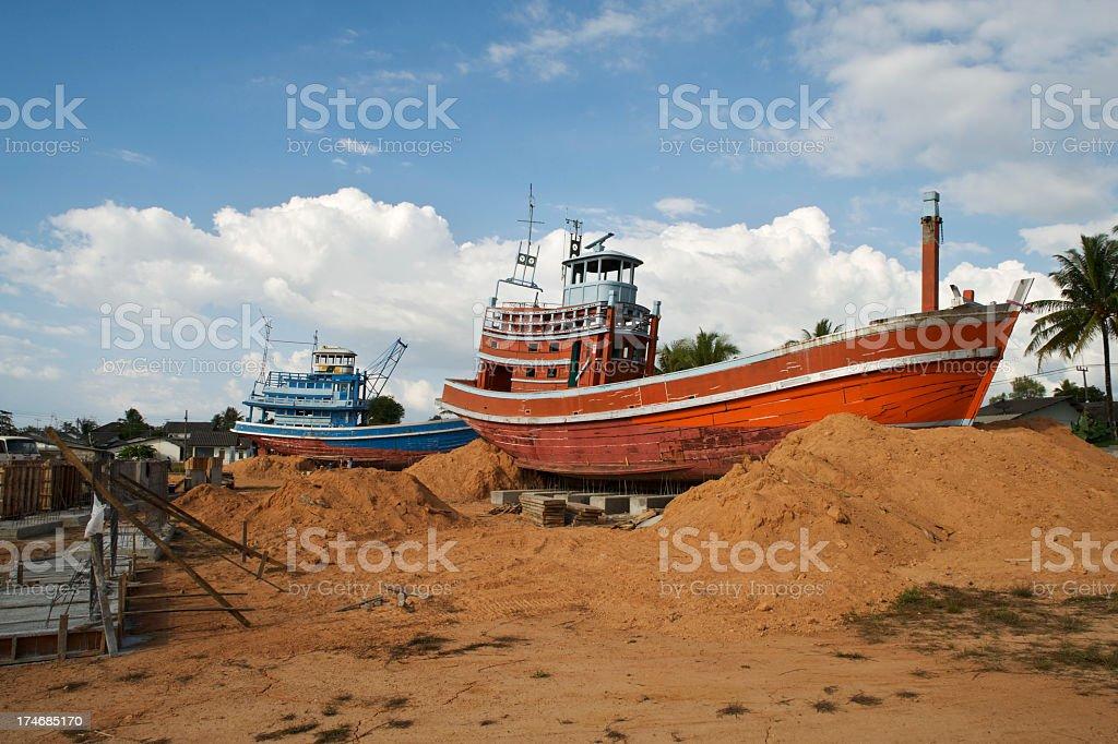 Post Tsunami Fishing Boats stock photo