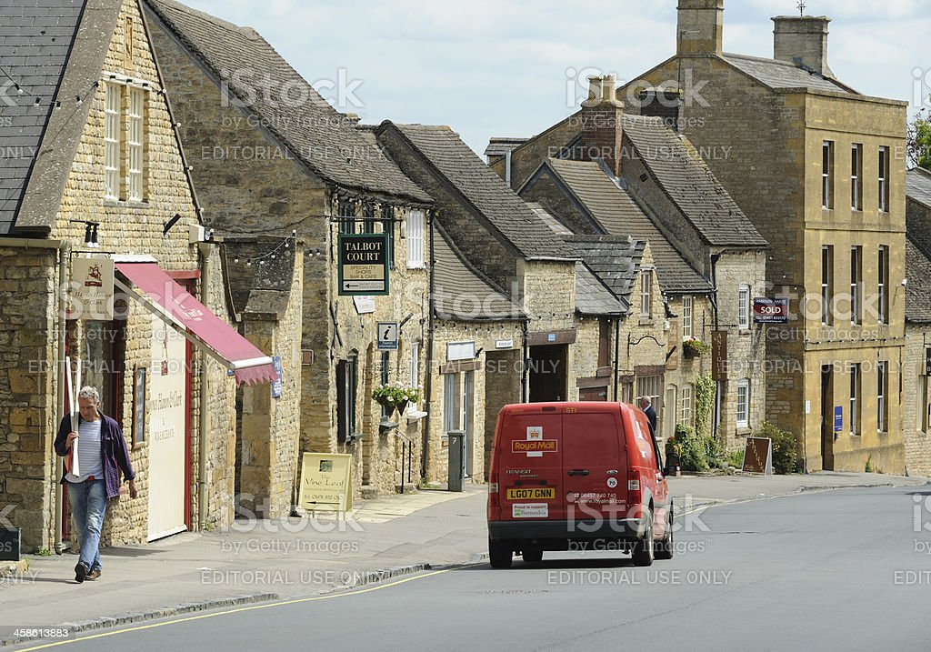 Post Van in Stow-on-the Wold stock photo