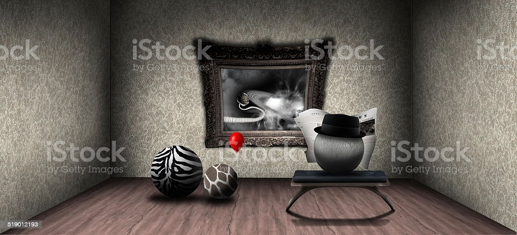Post war drama stock photo