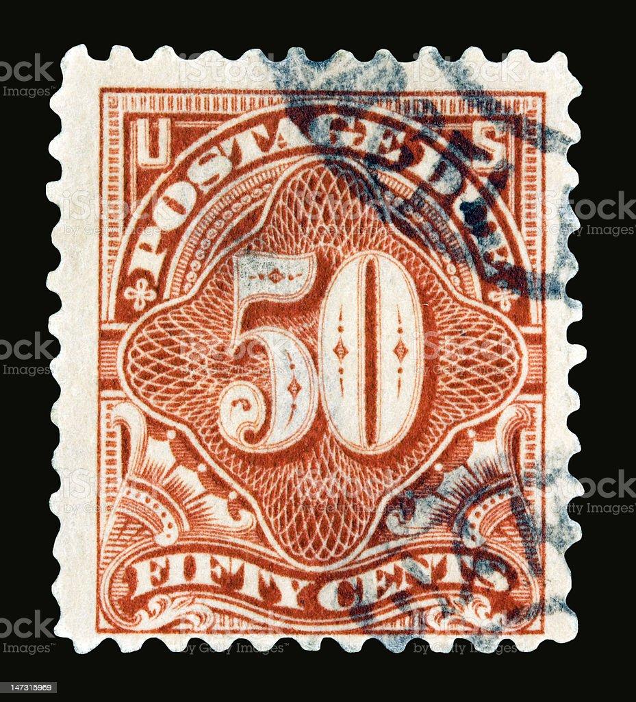 Postage Due 1917 stock photo