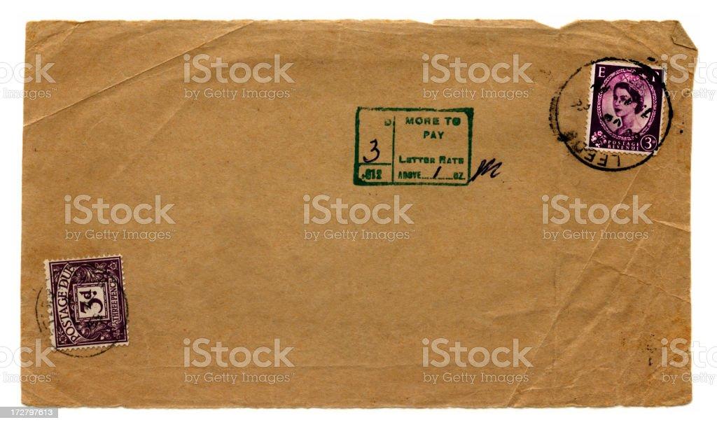 Postage due stock photo