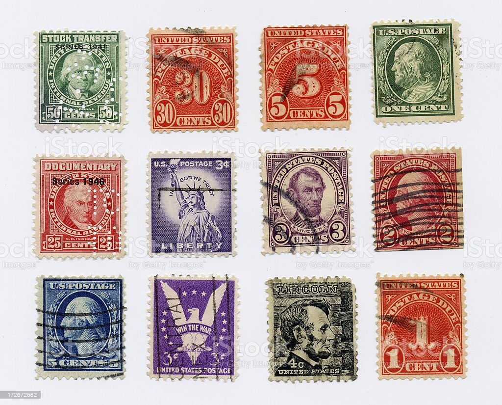 U.S. Postage stock photo