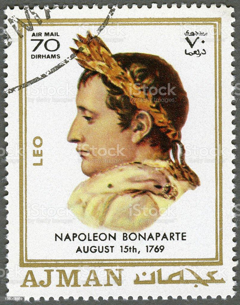 Postage stamp Ajman 1970 Napoleon Bonaparte (1769-1821) royalty-free stock photo
