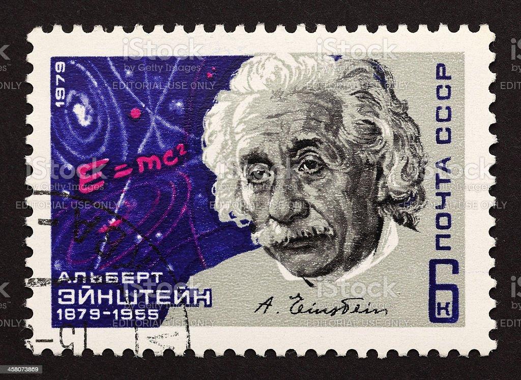 USSR postage stamp Albert Einstein stock photo