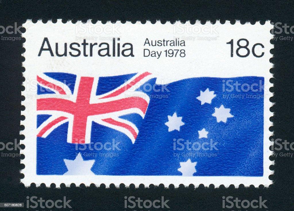 Postage Stamp - Australia - Australia Day 1978 Stamp - High Resolution stock photo