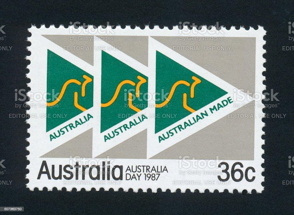 Postage Stamp - Australia - Australia Day 1987 Stamp - High Resolution stock photo