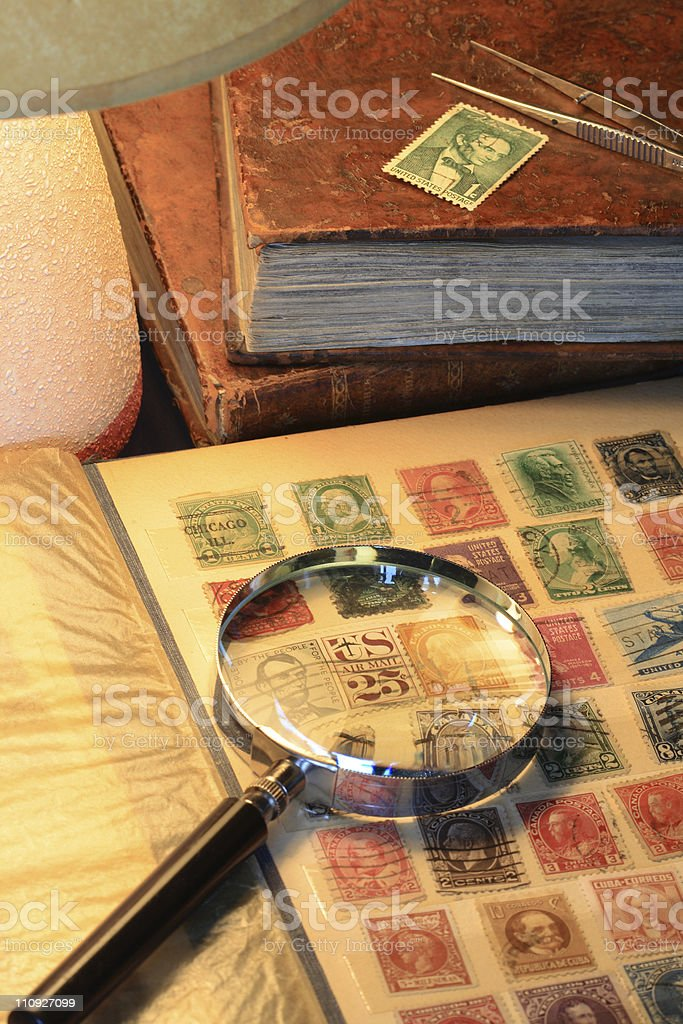 Postage Stamp Collection stock photo