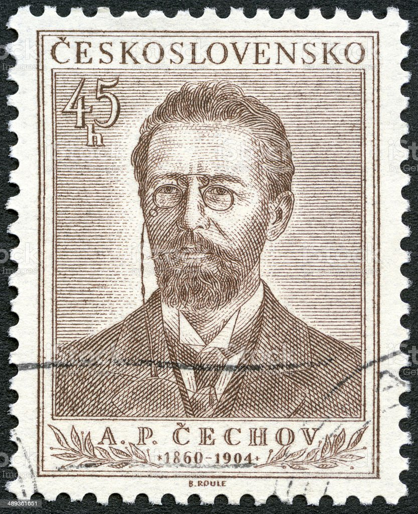 Postage stamp Czechoslovakia 1954 Anton Pavlovich Chekhov 1860-1904 stock photo