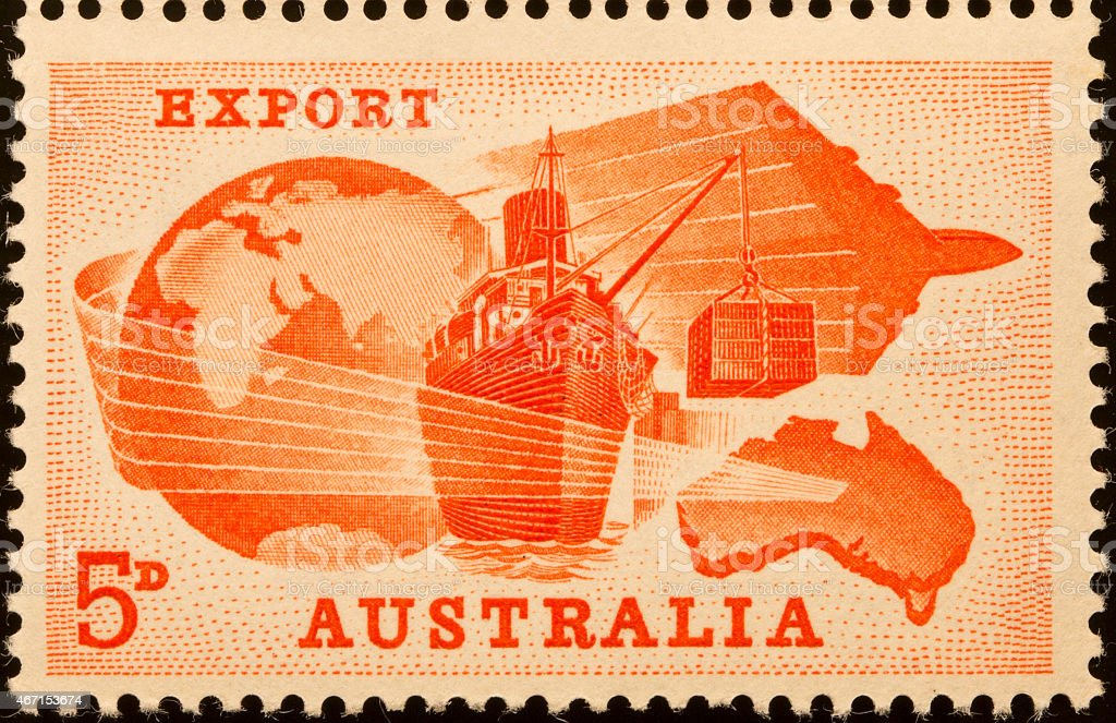 Postage Stamp - Export stock photo