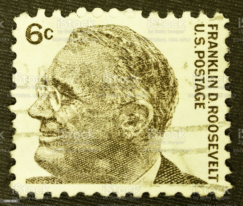 US Postage Stamp Featuring Franklin D. Roosevelt royalty-free stock photo