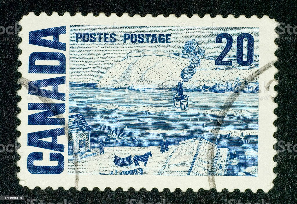 Postage Stamp: Ferry Quebec (Canada) 1967 royalty-free stock photo