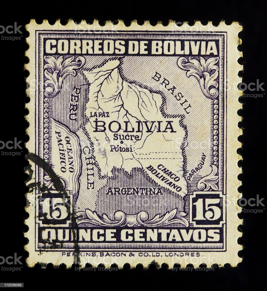 Postage stamp from Bolivia royalty-free stock photo