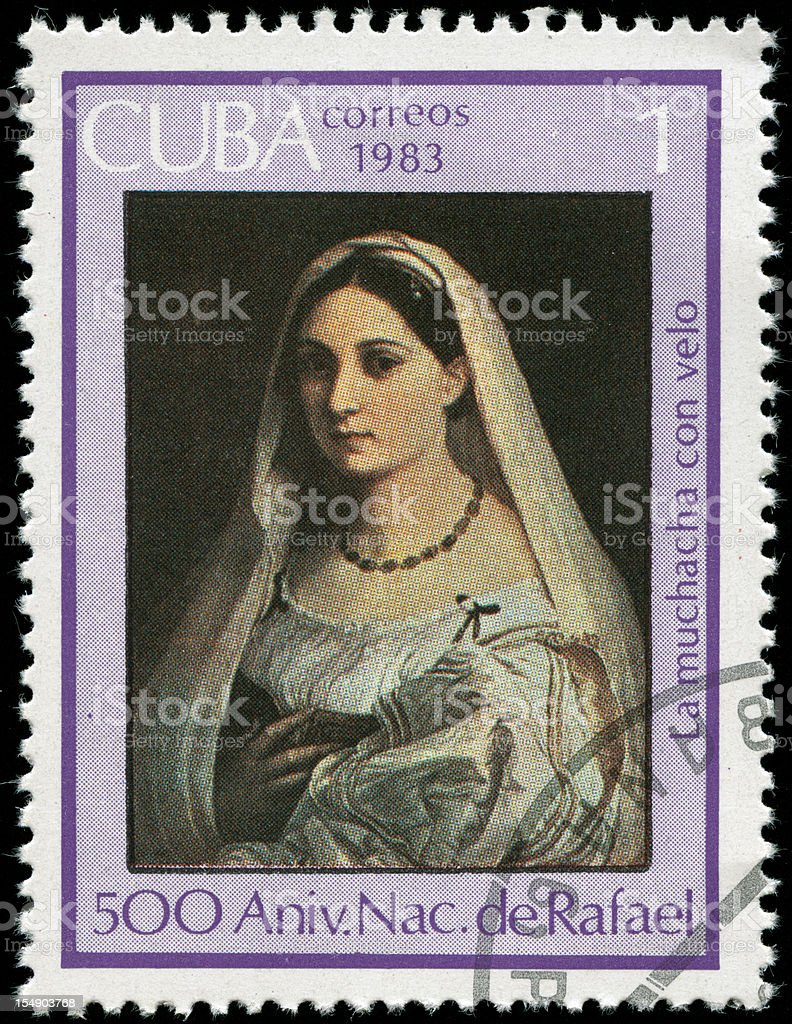 Postage stamp from Cuba stock photo