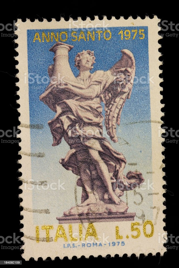 Postage stamp from Italy - 1975 stock photo