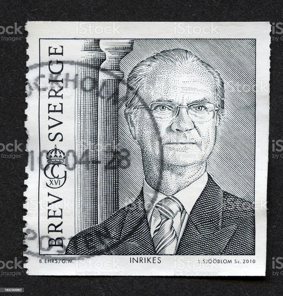 Postage stamp from Sweden stock photo