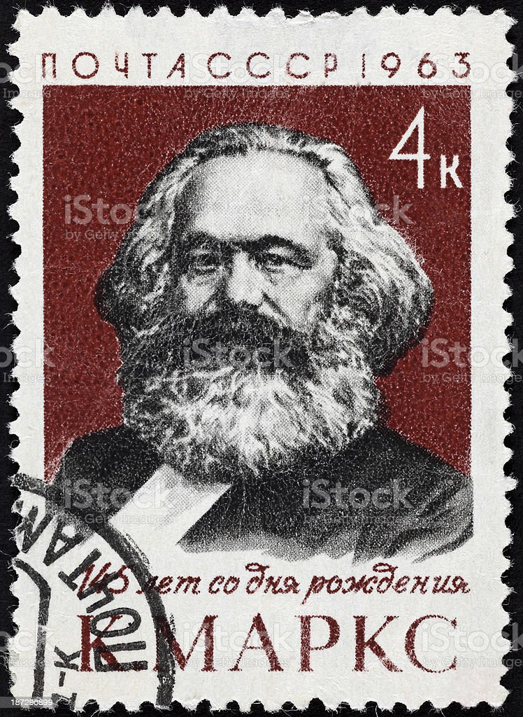 USSR postage stamp Karl Marx royalty-free stock photo
