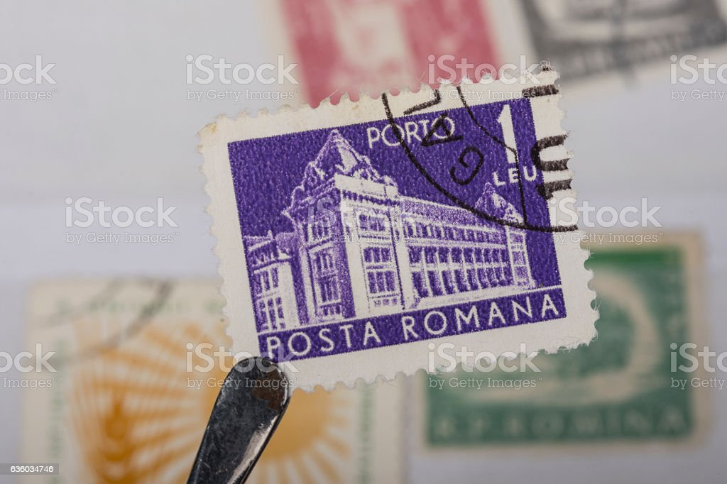 postage stamp of Canada stock photo