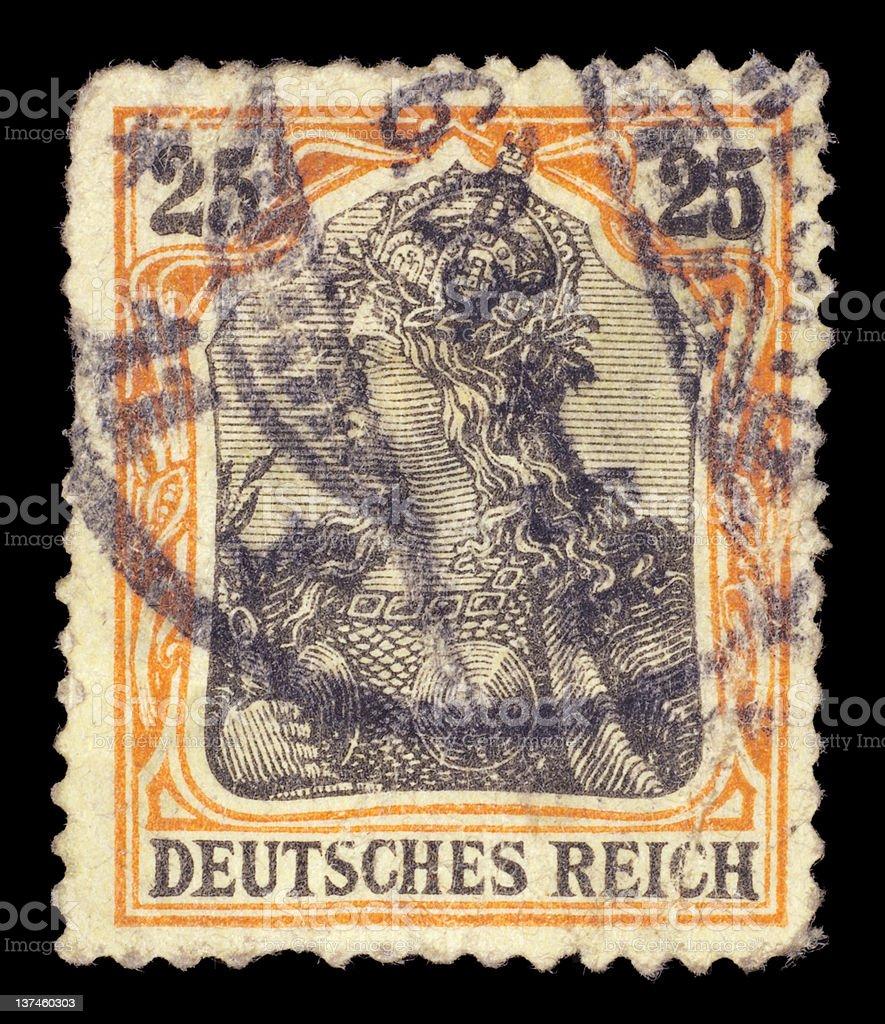 Postage stamp of Deutsches Reich stock photo