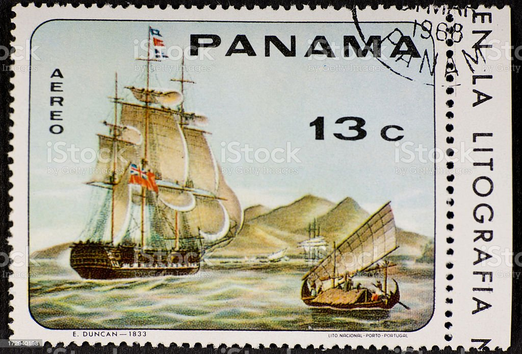 Postage Stamp Panama royalty-free stock photo