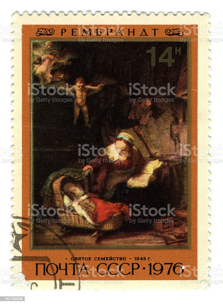 Postage stamp. stock photo
