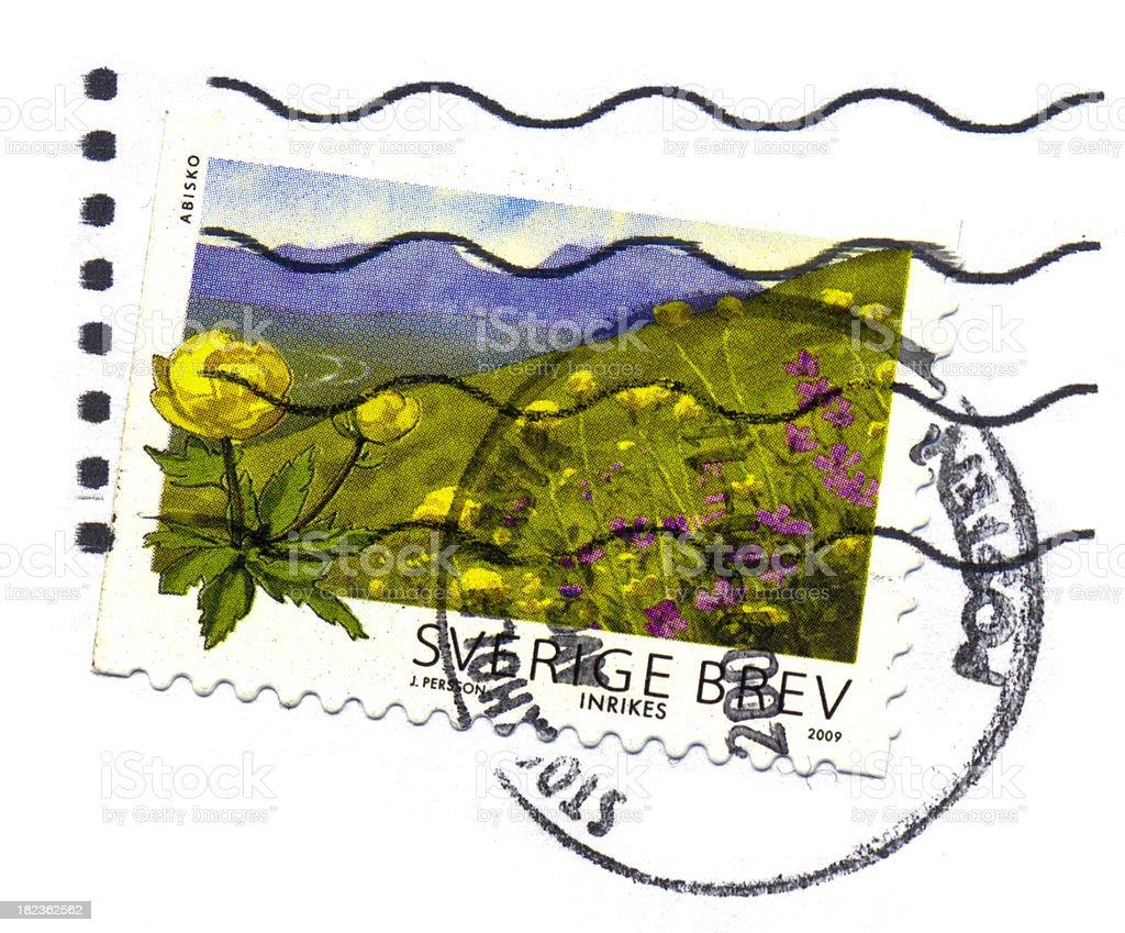 Postage Stamp (Sweden) stock photo