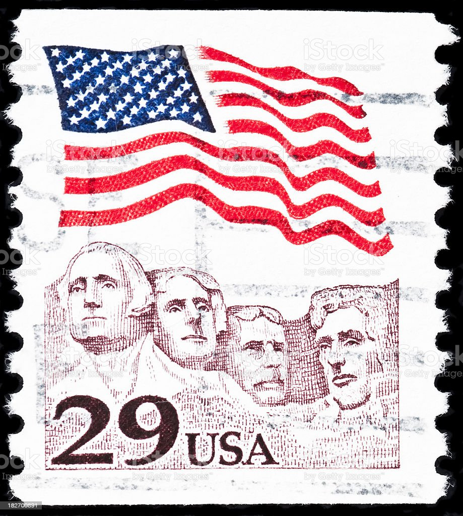 US postage stamp royalty-free stock photo