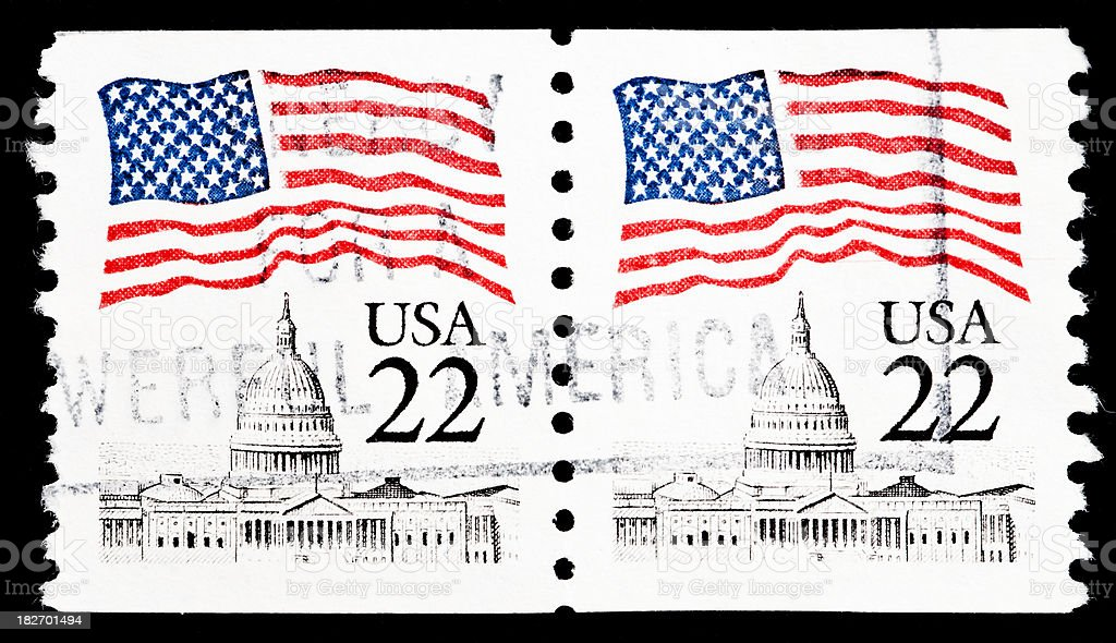US postage stamp royalty-free stock photo
