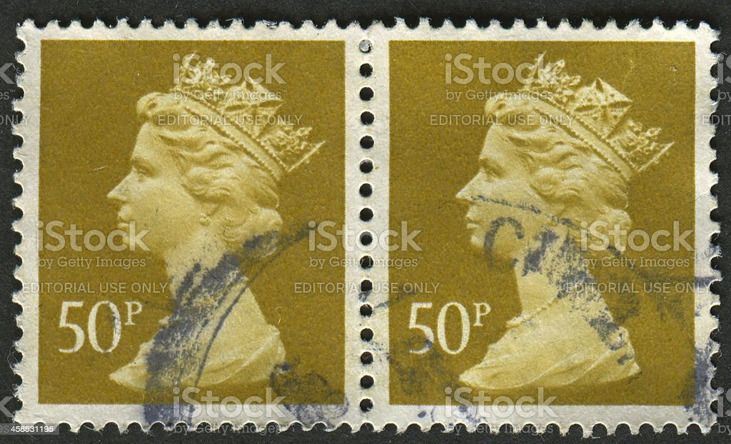 Postage stamp. royalty-free stock photo
