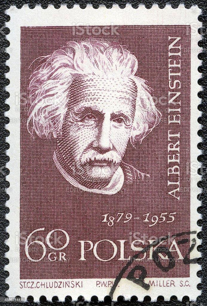 Postage stamp POLAND 1959 Albert Einstein stock photo