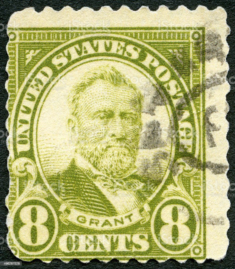 Postage stamp USA 1923 shows portrait of Hiram Ulysses Grant stock photo