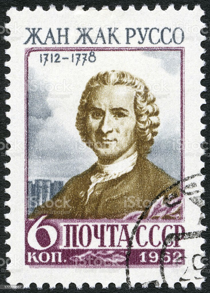 Postage stamp USSR 1962 Jean-Jacques Rousseau (1712-1778) royalty-free stock photo
