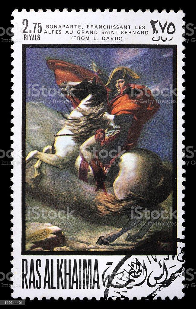 Postage stamp with Napoleon stock photo