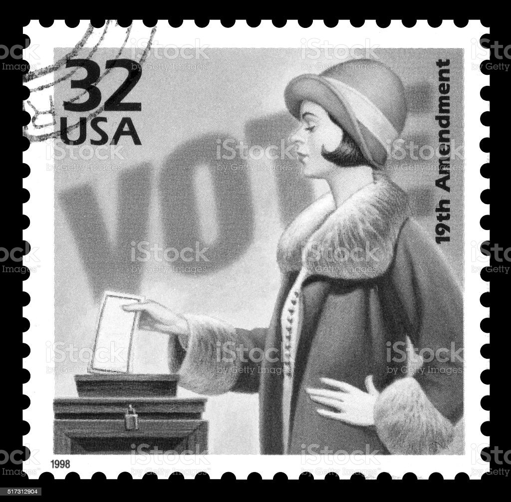 USA postage stamp women's suffrage stock photo