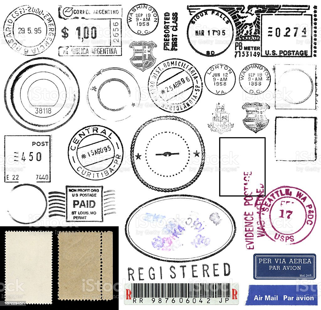 Postage Stamps and Marks royalty-free stock photo