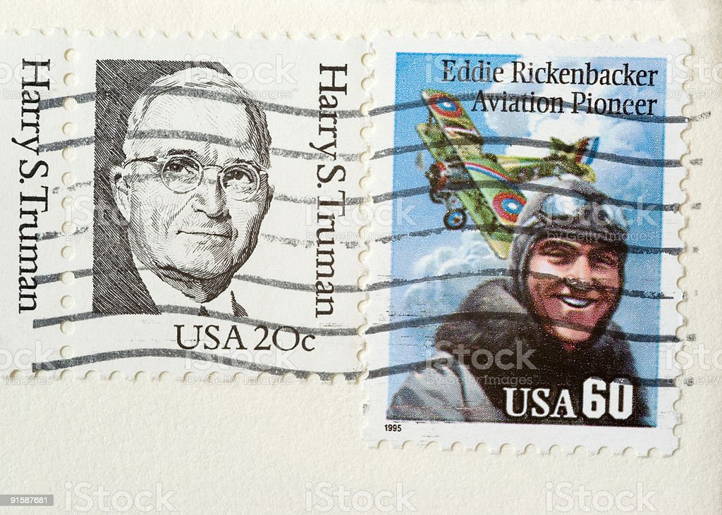Postage Stamps: Famous People America (USA) stock photo