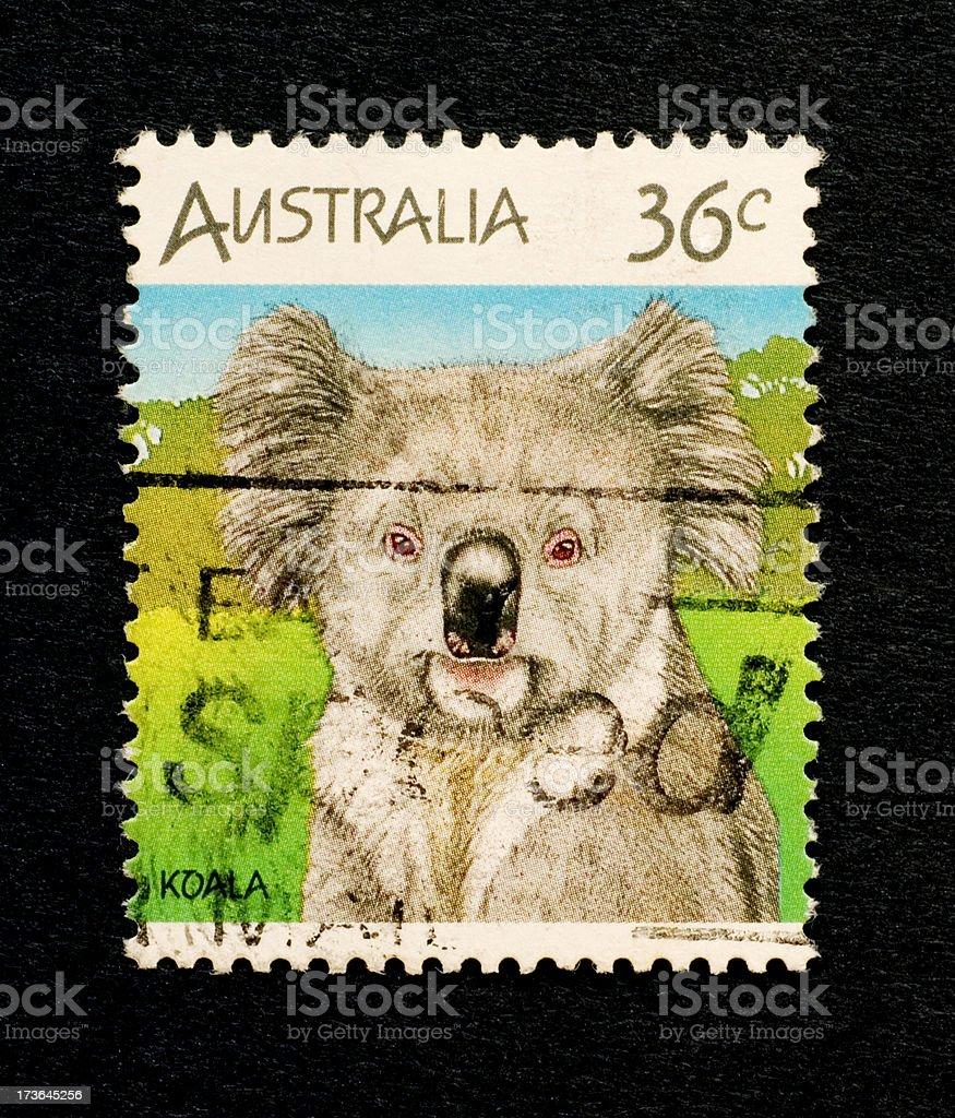 Postage Stamps: Koala Bear (Australia) royalty-free stock photo