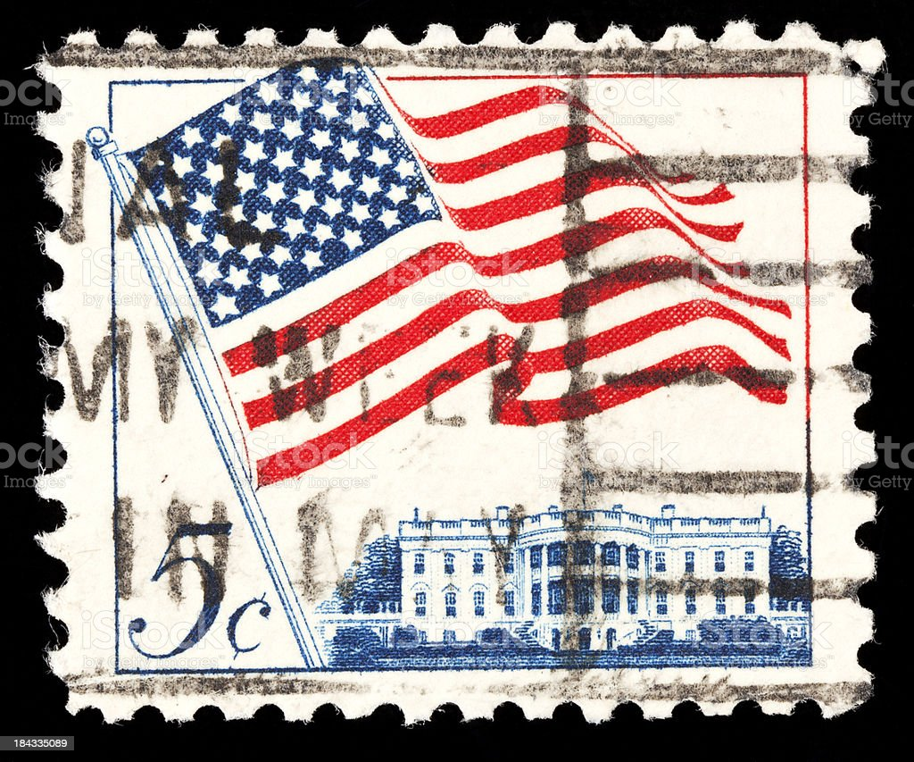 US postage stamps stock photo
