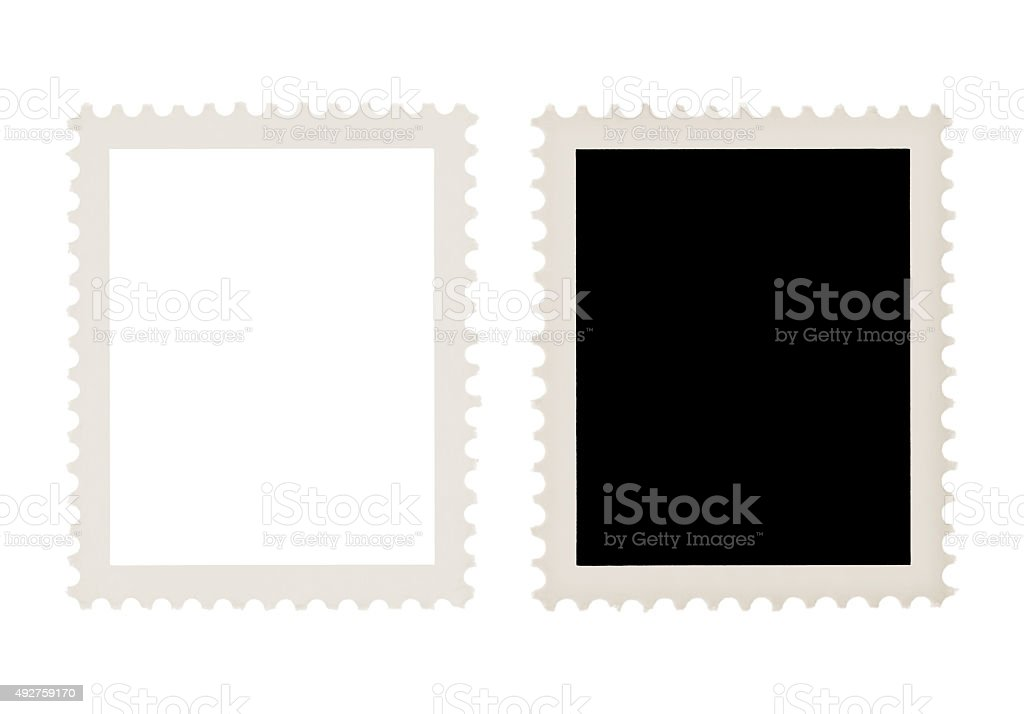 Postage Stamps (with 2 paths) stock photo