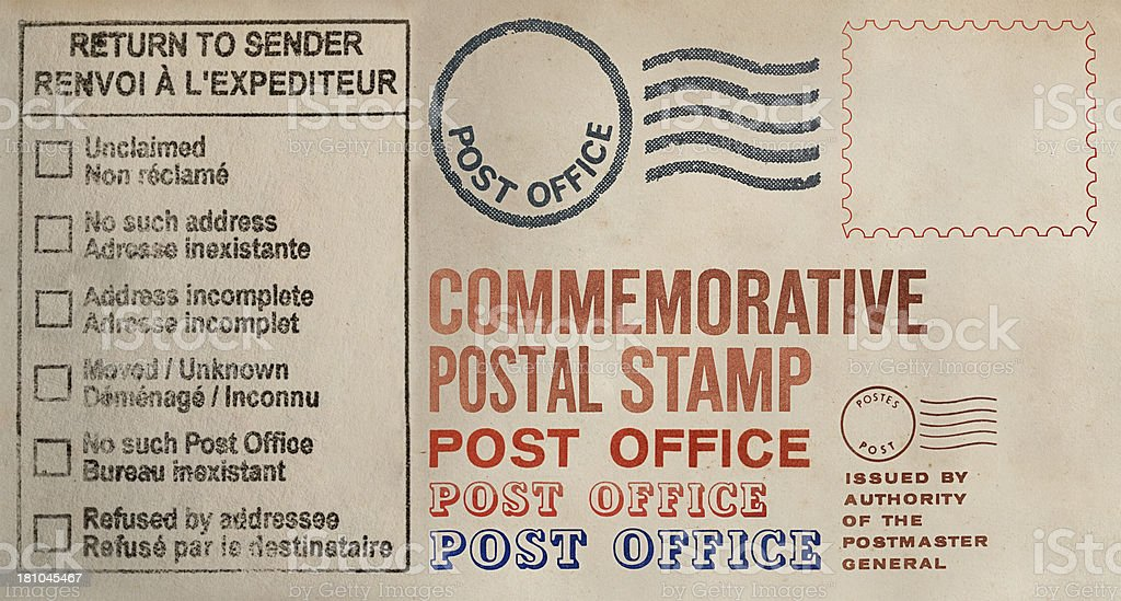 Postage Text Collection royalty-free stock photo