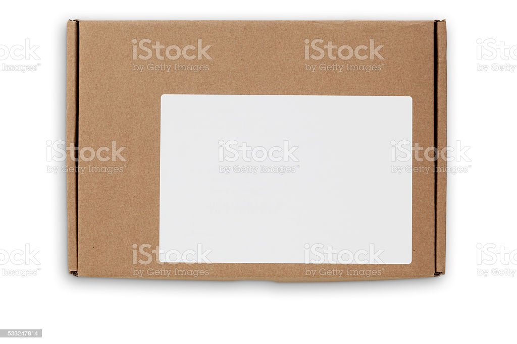 Postal Box With Clipping Path stock photo