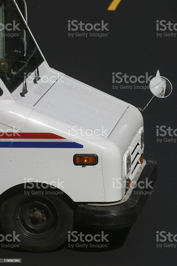 Postal Delivery Truck royalty-free stock photo