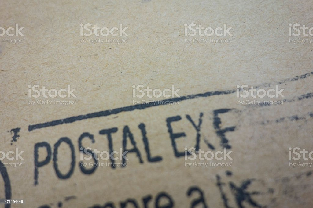 Postal Express stock photo