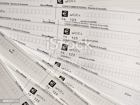 Postal Order Form Stock Photo   Istock