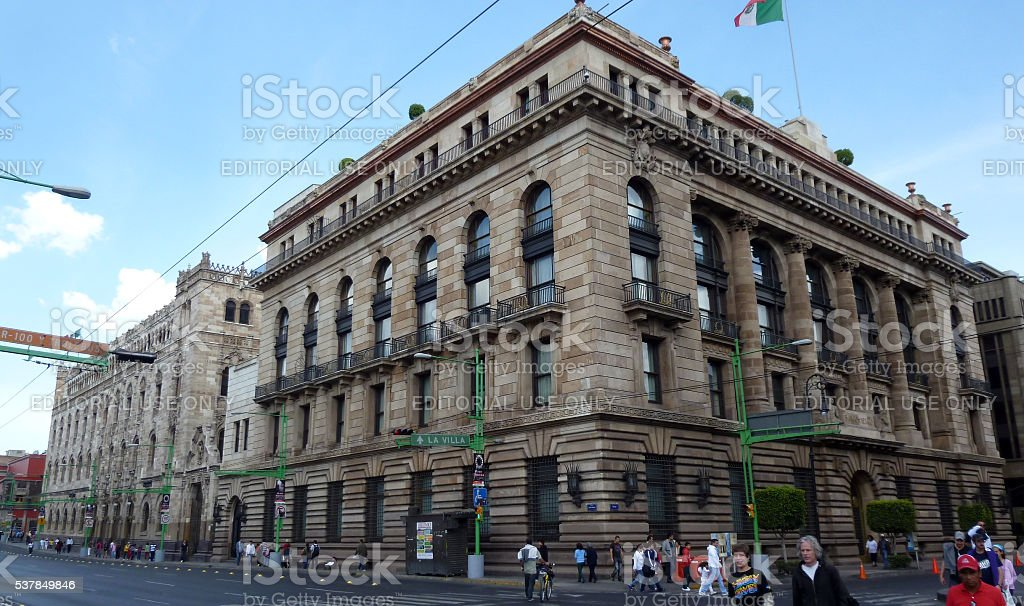 Postal Palace of Mexico in the historic center. stock photo