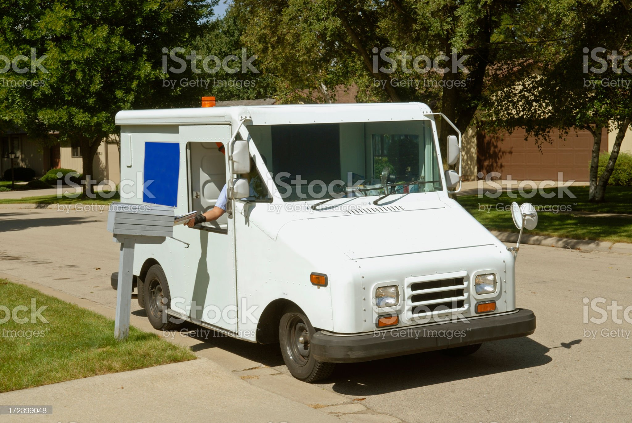 Postal Truck royalty-free stock photo