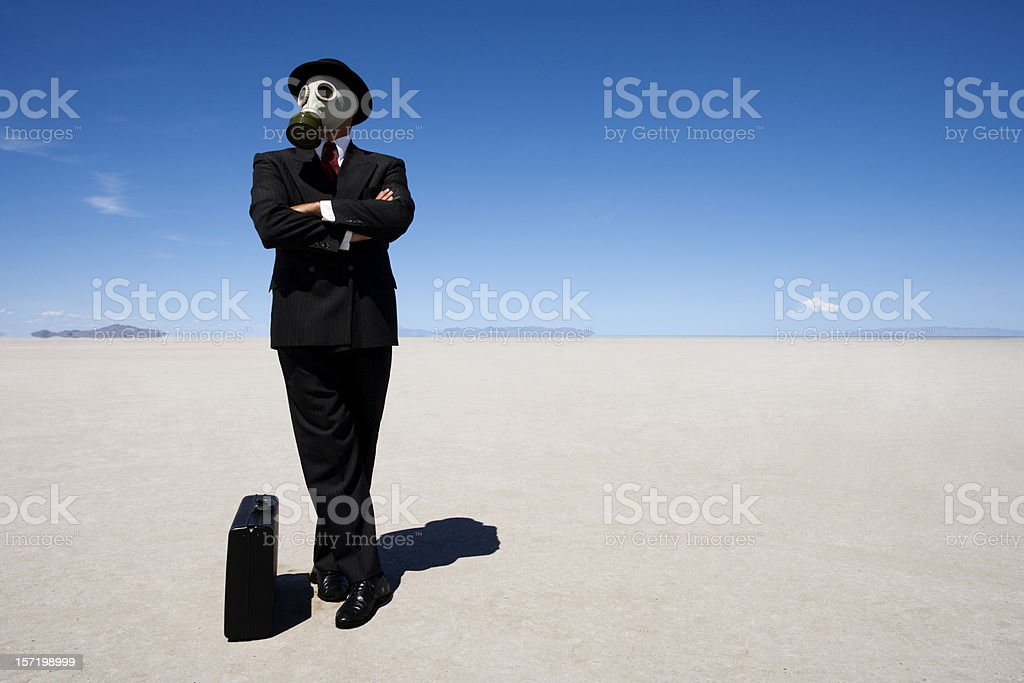 Post-apocalyptic Businessman royalty-free stock photo