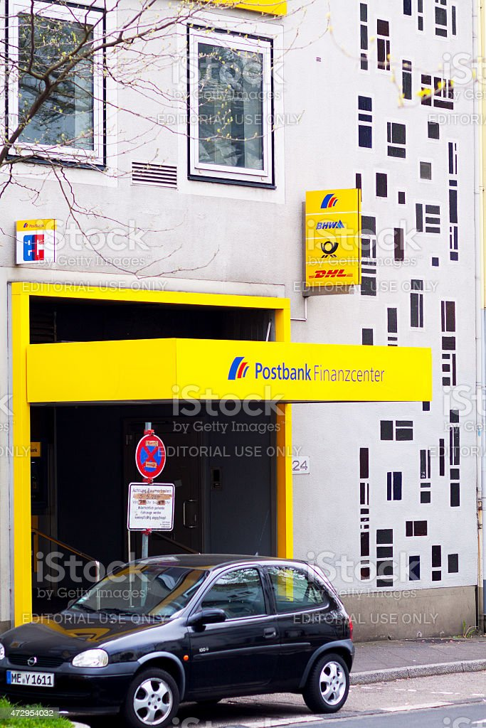 Postbank and DHL store in Germany stock photo